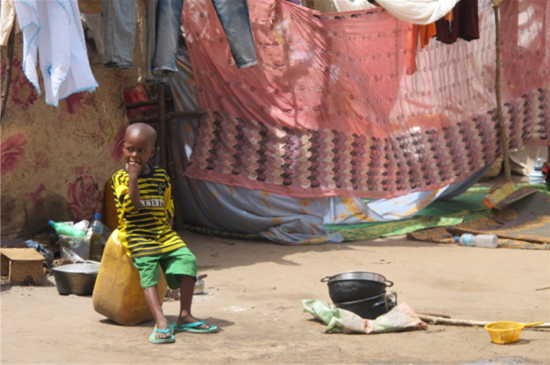 Idriss a refugee child from CAR