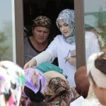 Amina volunteers with Islamic Relief in Chechnya.