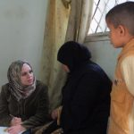Hiba volunteers with Islamic Relief Jordan.