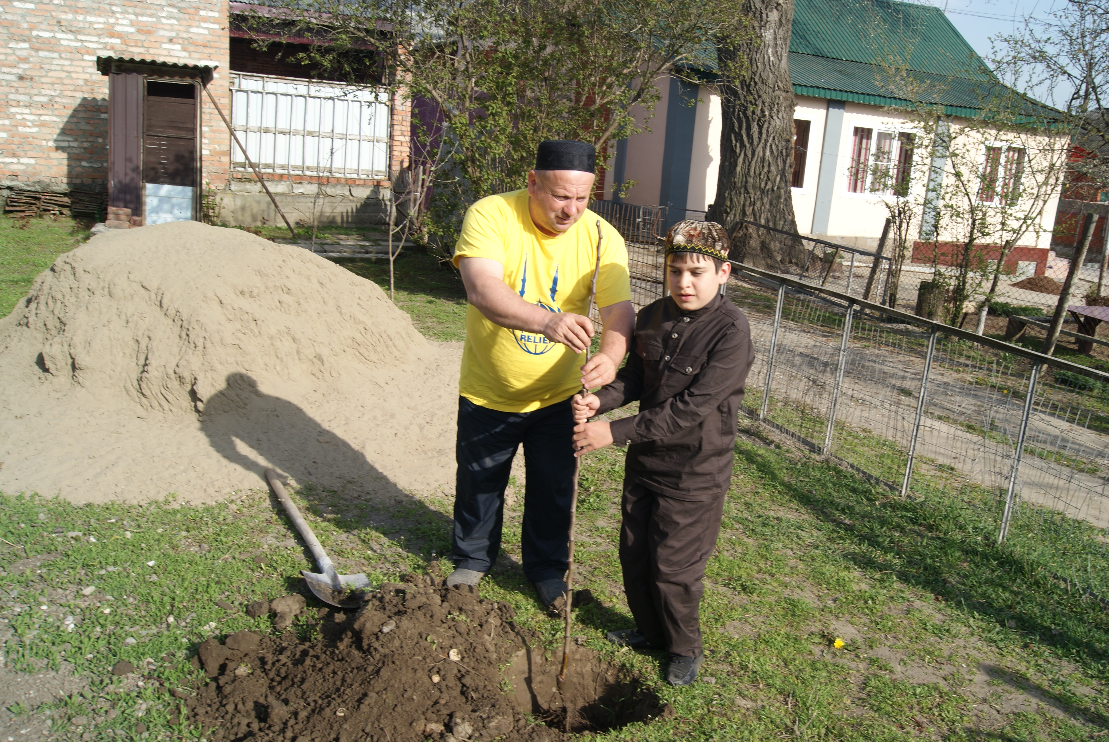 In the framework of the projecvt IRR distributed 1000 trees for the Blind,provided necessary gardening equipment, chemicals and professional consultations for cultivating various fruit trees. Rasul Gasiev,11, lives in Grozny, he is a beneficiary of the project. Rasul is blind since he fell down on back when he was 3.Rasul received some fruit trees to plant in his yard.