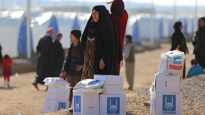 Providing aid to the people of Mosul